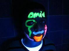 Blacklight schmink op OBS De Startbaan. Joker, Make Up, Fictional Characters, Art, Art Background, Kunst, The Joker, Makeup, Beauty Makeup