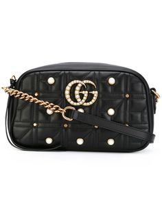 cf0aa53bc766 GUCCI embellished GG Marmont cross-body bag. #gucci #bags #shoulder bags