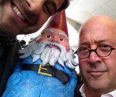 Adam Richman, the Roaming Gnome and I breaking bread. Can't you come to the Capital Food Fight? Rich Man, Blame, Beautiful People, Paradise, Bread, My Love, Inspiration, Food, Biblical Inspiration