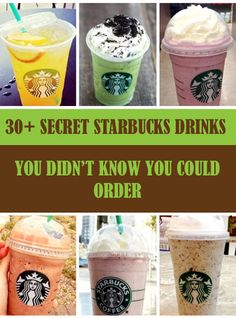 30+ Secret Starbucks Drinks You Didn't Know You Could Order