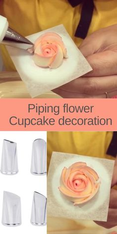 Creative Cake Decorating, Cake Decorating Designs, Cake Decorating Techniques, Cake Decorating Tutorials, Cake Designs, Cookie Decorating, Buttercream Cake Decorating, Buttercream Frosting, Flower Cupcakes