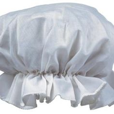 A ruffled night cap is a charming way to keep your head warm and your hair in place.