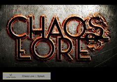 https://flic.kr/p/qDpJ4F | Chaos Lore ::: Splash | Diseñado con Adobe Photoshop y Adobe Illustrator