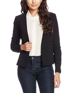 PIECES Damen Pcnattie Blazer Noos, Schwarz (Black), 34 (Herstellergröße: XS)