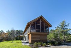 Modern take on a gabled home in Cape Cod.