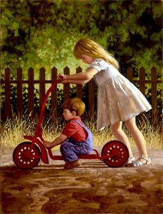 """""""Along for the Ride"""" -- Jim Daly (1940, American)"""