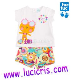 Conjunto TUC TUC Camiseta+Short Niña SURF WAVES