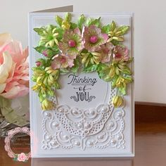 Thinking of You with Wild Roses and Asters by TrishaMat - at Splitcoaststampers. Pin Now! #heartfeltcreations #papercraft #diycraft #diy #crafts #stamps #dies #stamping #die #card #cards #cardmaking #flowershaping #handmadeflowers #embellishments #scrapbooking Heartfelt Creations, Pretty Cards, Handmade Flowers, Flower Making, Design Crafts, Your Cards, I Card, Making Ideas, Thinking Of You