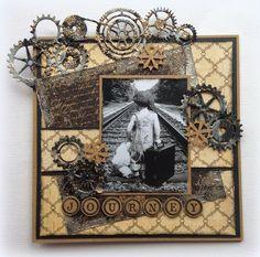 Made by Jolanda: Journey Cards For Men, Boy Cards, Vintage Scrapbook, Scrapbook Pages, Scrapbook Layouts, Vintage Cards, Vintage Images, Tiddly Inks, Fathers Day Cards