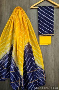 Price Rs 1600 + Shipping extra Hand block Printed chanderi silk dress materials Top and dupattas chanderi silk (2.50×2 mtrs) Bottom cotton (2.50 meters) Chanderi Suits, Chanderi Silk Saree, Patiala Suit, Churidar Suits, Anarkali Suits, Salwar Kameez, Silk Sarees, Printing Types, Dabu Print