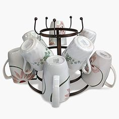 This bronze mug holder is made out of high quality durable metal with a smooth bronze finish touch, the 3 tiered racks holds 15 coffee or tea mugs bottles and Glasses. Can be used on you counter for display or on the table while eating and in your cabinets for storage, also great for
