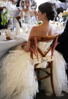 The Bridal Chair enveloped in layers of Vera Wang  Photography by http://catherinehall.net