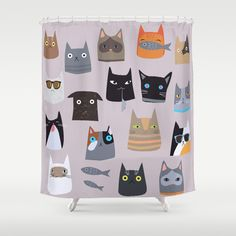 Cats comunity Shower Curtain by Darish - $68.00