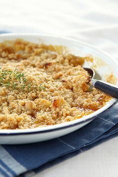 apple-apricot-thyme crumble by photo-copy, via Flickr