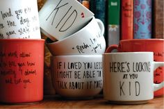 """Design Your Own Mug!  [FYI, I've seen that Sharpie markers don't work as well as these """"Pebeo Porcelaine"""" markers]"""