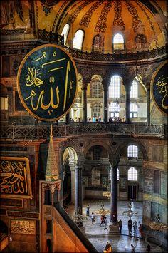 Mosque Architecture, Sacred Architecture, Concept Architecture, Mecca Wallpaper, Quran Wallpaper, Mekka Islam, Hagia Sophia Istanbul, Visit Istanbul, Istanbul City