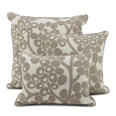 Oilo Modern Berries Pillow Taupe - Simple Shapes Wall Decals, Furniture, and Accessories