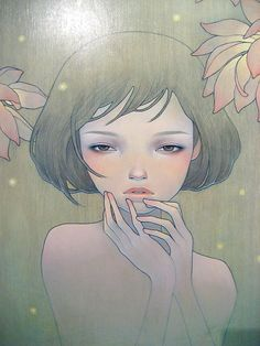 Audrey Kawasaki. this is how i want my hair