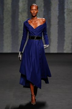 Dior Haute Couture Autumn-Winter 2013 – Look 9: Cobalt blue wool dress. Discover more on www.dior.com #Dior#PFW