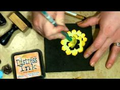 Tim Holtz Pinecone Die  - 4 flowers Tutorial  http://www.youtube.com/watch?v=7xoLcqBvJVg#
