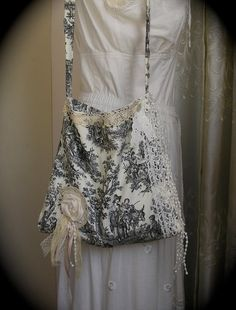 Toile and lace . . . romantic