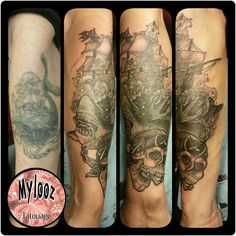Cover done at The Tattooed Lady, Montreuil. Pirat style.  mylooz.tatouage@gmail.com
