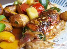 Sommerhähnchen mit Kartoffeln aus dem Backofen