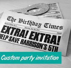 Custom superhero training party invitation - ideas for your party