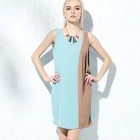 Pleated Sleeveless Shop For Dress Light Blue Light Grey