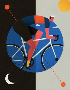 Niki Fisher's illustration for Jim Langley's story in the latest issue of The Ride Journal.