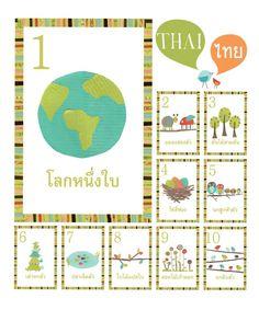 Thai Counting Cards | Children Inspire Design