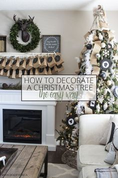 How to Decorate a Christmas Tree the Easy Way - http://akadesign.ca/how-to-decorate-a-christmas-tree-the-easy-way/