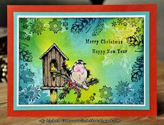 Liesbeth's Arts & Crafts: Art Journey challenge 63 : Everything goes ! Christmas Bird, Merry Christmas And Happy New Year, Everything Goes, Arts And Crafts, Challenges, Journey, Birds, Stamps, Paper Boxes