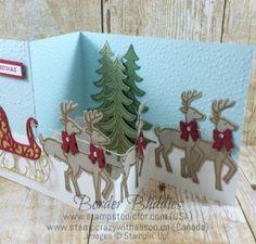 Santa's Sleight Z Fold 3 www.stampcrazywithalison.ca