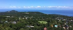 Panoramic view of Izu, Japan, from Shaboten (cactus) Park.