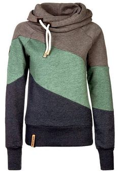 Naketano comfy tri-colored hoodie.