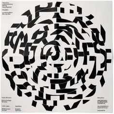 Yes, that's type - Helvetica by the way. Experimental Jetset, Helvetica Blu-Ray disk limited edition film poster