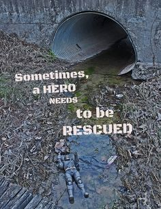 Sometimes, a hero needs to be rescued (image by me!)