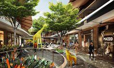 Central Eastville: New Bangkok Escape mall to open tomorrow - Hotels Concept Shopping Mall Architecture, Shopping Mall Interior, Retail Architecture, Shopping Street, Shopping Malls, Commercial Architecture, Landscape Architecture, Architecture Design, Plaza Design