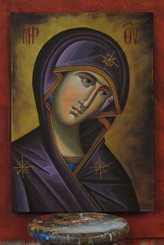 I Love You Mother, Mother Mary, Icon Clothing, Byzantine Art, Holy Mary, Art Thou, Orthodox Icons, Madonna, Mona Lisa