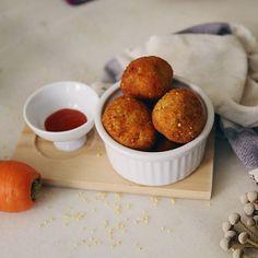 Estoy experimentando con nuevas materias primas. Hoy croquetas de mijo y zanahoria #vegan #veggie #veganfood #glutenfree