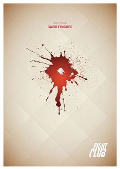 Fight Club. Minimalist Posters by Tamer Elsawi, via Behance