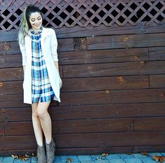 Plaid & Fringe.   Plaid Dress Three Ways Featuring Vamped Boutique + Makeup Details | Nikole DeBell Beauty