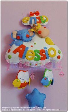 Juicy felt: Un fiocco nascita coloratissimo per Alessio