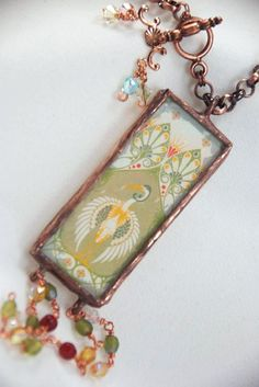 Carrie Strope Sohayda  I love using Dover images in soldered jewelry!