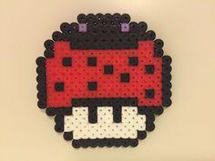 Ladybug mushroom perler beads by Bjrnbr