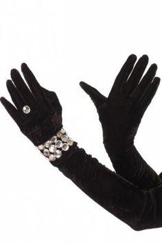 Velvet Opera Faux Bracelet Ring Gloves Ring Bracelet, Bracelets, Necklaces, Bridal Necklace, Gloves, Velvet, Rings, Opera, Fashion