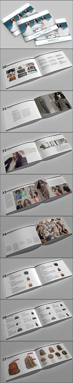 30 Beautiful Examples Of Cool Catalogue & Brochure Design Graphic Design Brochure, Brochure Layout, Book Design Layout, Print Layout, Booklet Design, Fashion Portfolio Layout, Portfolio Design, Web Design, Print Design
