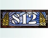 812 transom wheat 1 (house number transom) wheat and 812 house number transom pattern for stained glass []$3.00 | PDQ Patterns