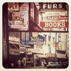 Hastings Street - Downtown #Vancouver - 1960s/1970s @lyndsaygreenwood on Instagram www.lyndsaygreenwood.ca Iconic Photos, Old Photos, Vintage Photos, Book Bar, Montreal Ville, Downtown Vancouver, Hotel Motel, Photo Boards, Urban Life